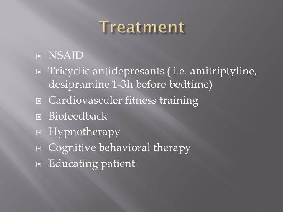  NSAID  Tricyclic antidepresants ( i.e.