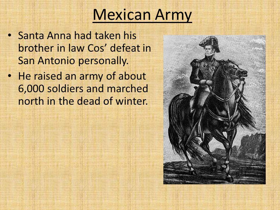 Santa Anna split his army in two.