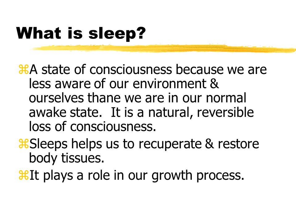 What is sleep.
