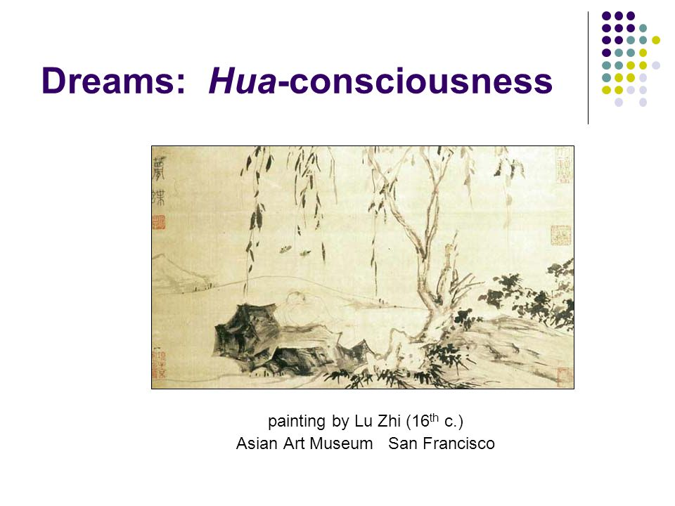 Dreams: Hua-consciousness painting by Lu Zhi (16 th c.) Asian Art Museum San Francisco