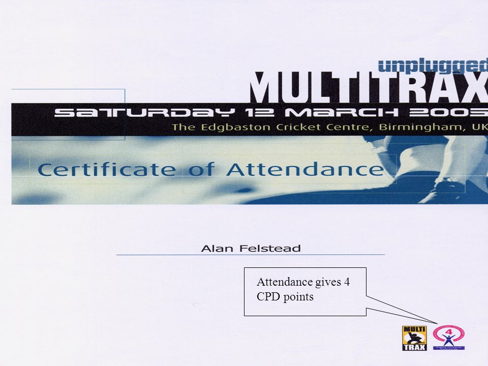 Attendance gives 4 CPD points