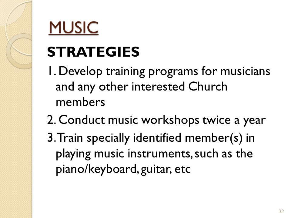 MUSIC STRATEGIES 1.