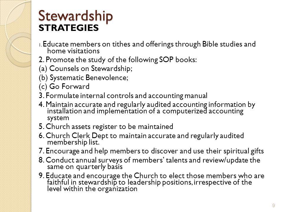 Stewardship STRATEGIES 1.