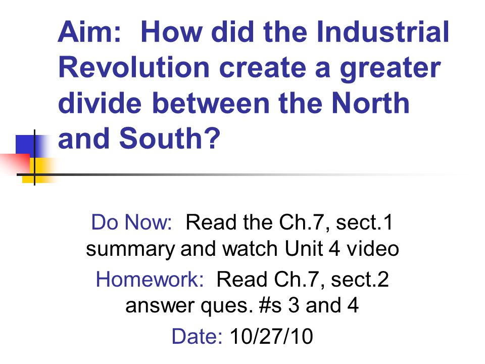 What was the Industrial Revolution.