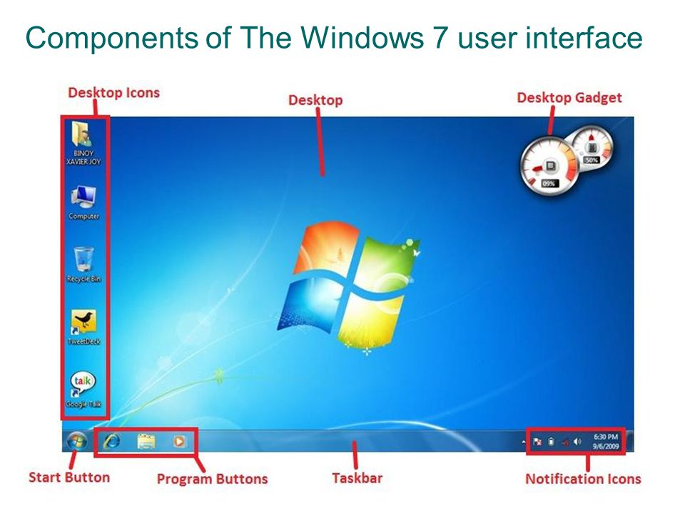 Desktop (Themes) o To change the background of your desktop, right click anywhere, click Personalize and then choose one of the options provided.