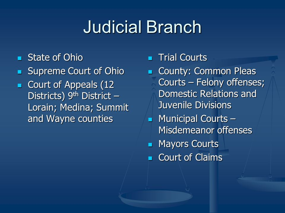 Role of Judicial Branch Apply law to the facts of the case Apply law to the facts of the case Interpret laws Interpret laws