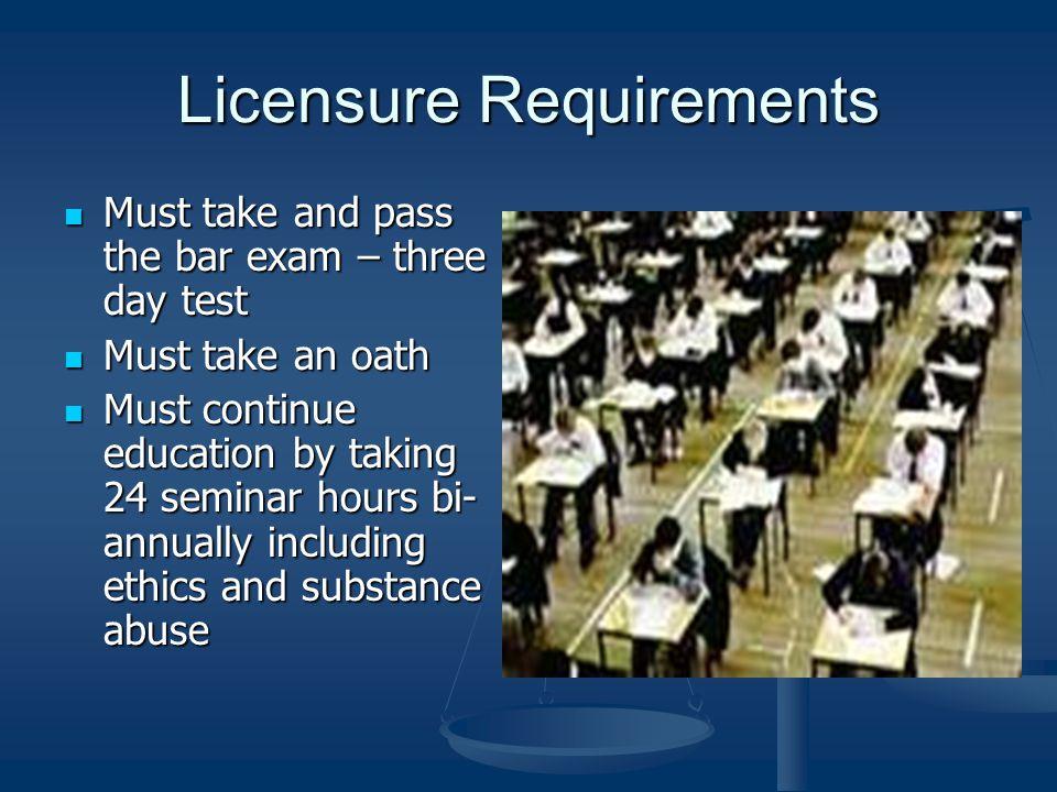 3 years minimum of law school 3 years minimum of law school