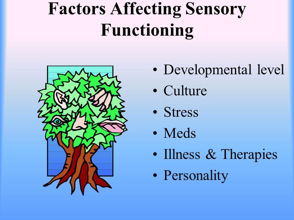 Interventions: Sensory Deprivation Prevent sensory alteration Teach self stimulation methods- reading, singing etc.