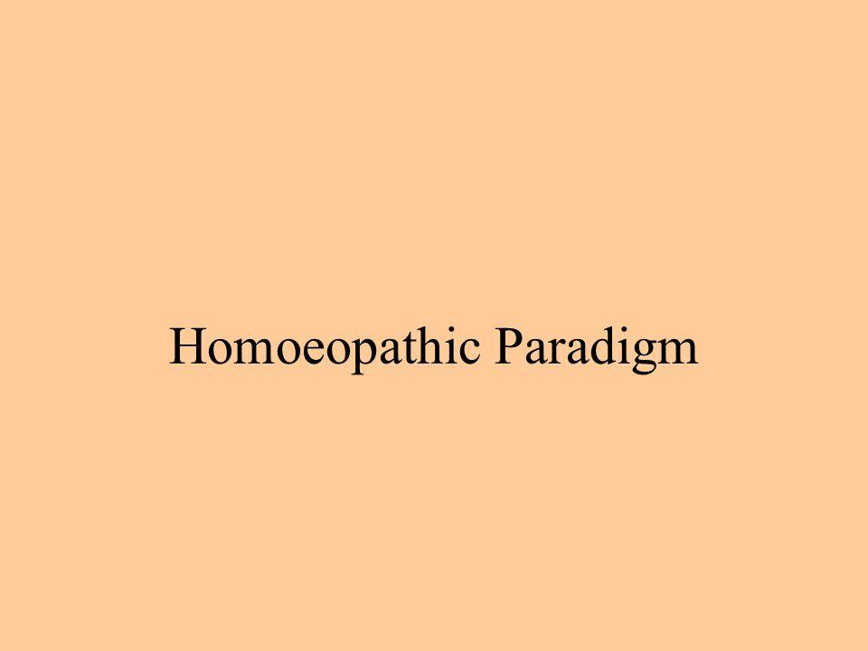 Homoeopathic Paradigm