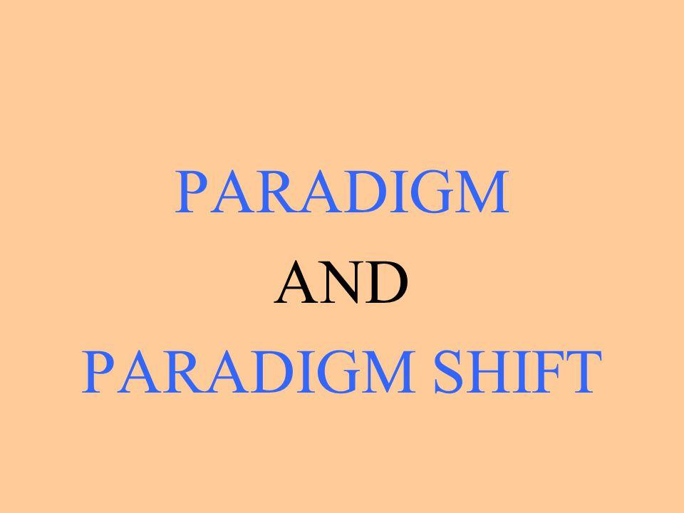 PARADIGM AND PARADIGM SHIFT