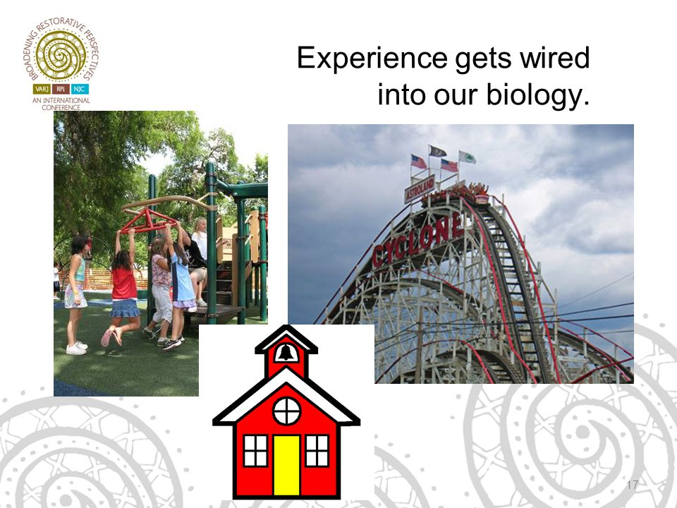 Experience gets wired into our biology. 17