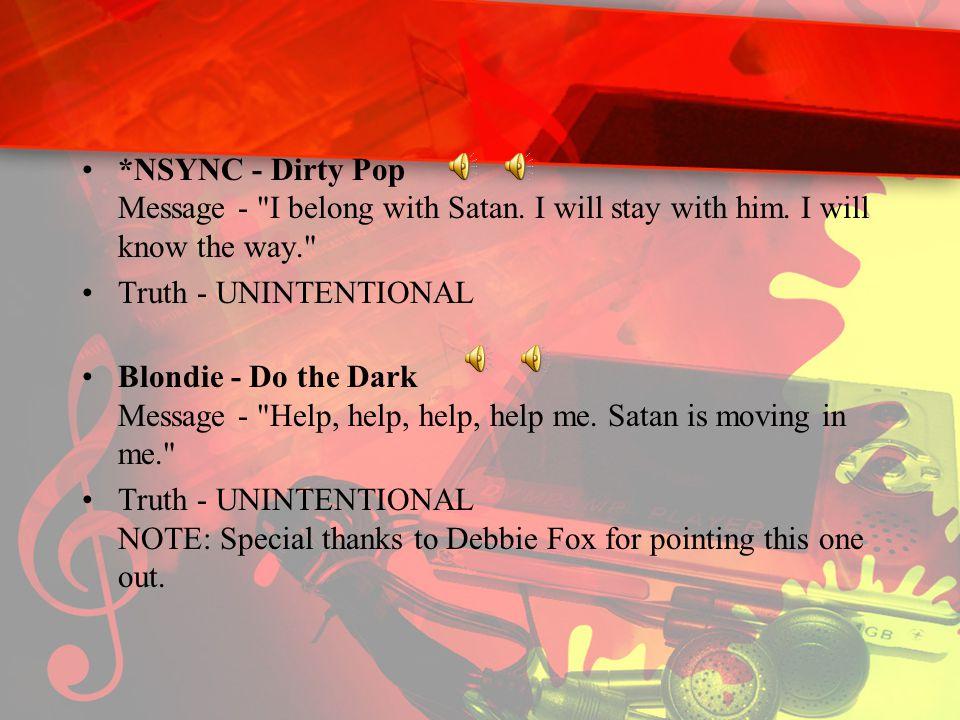 *NSYNC - Dirty Pop Message -