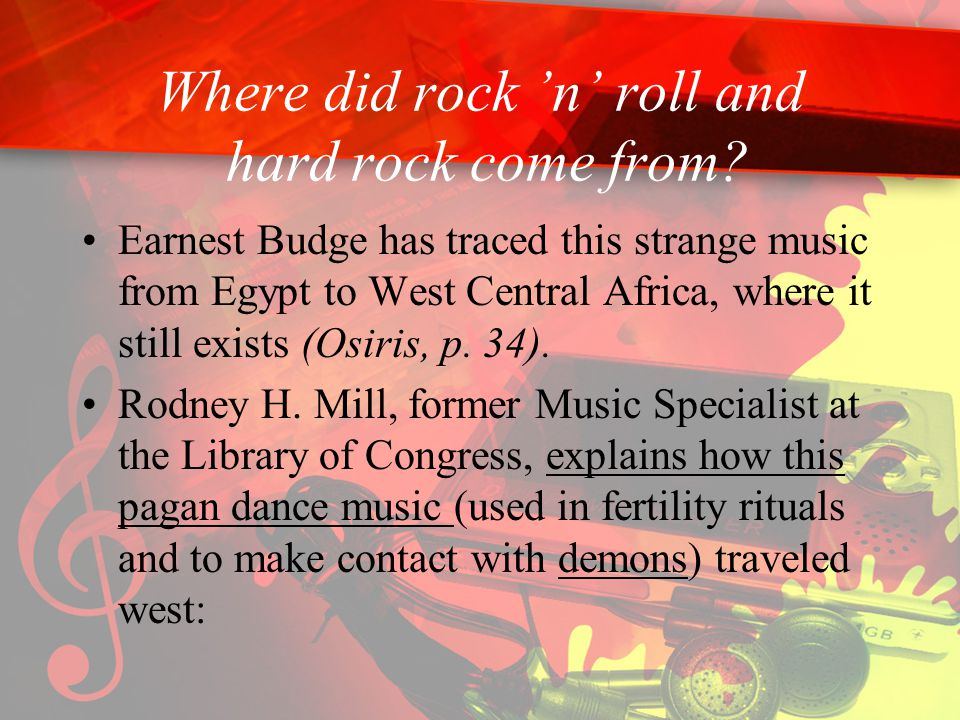Where did rock 'n' roll and hard rock come from.