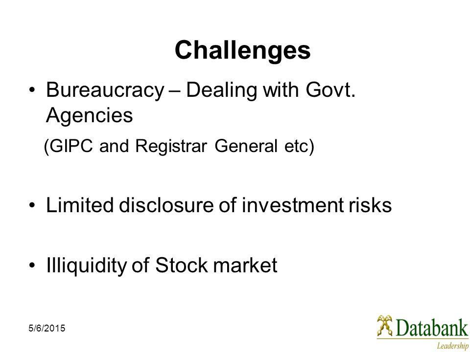5/6/2015 Challenges Bureaucracy – Dealing with Govt.
