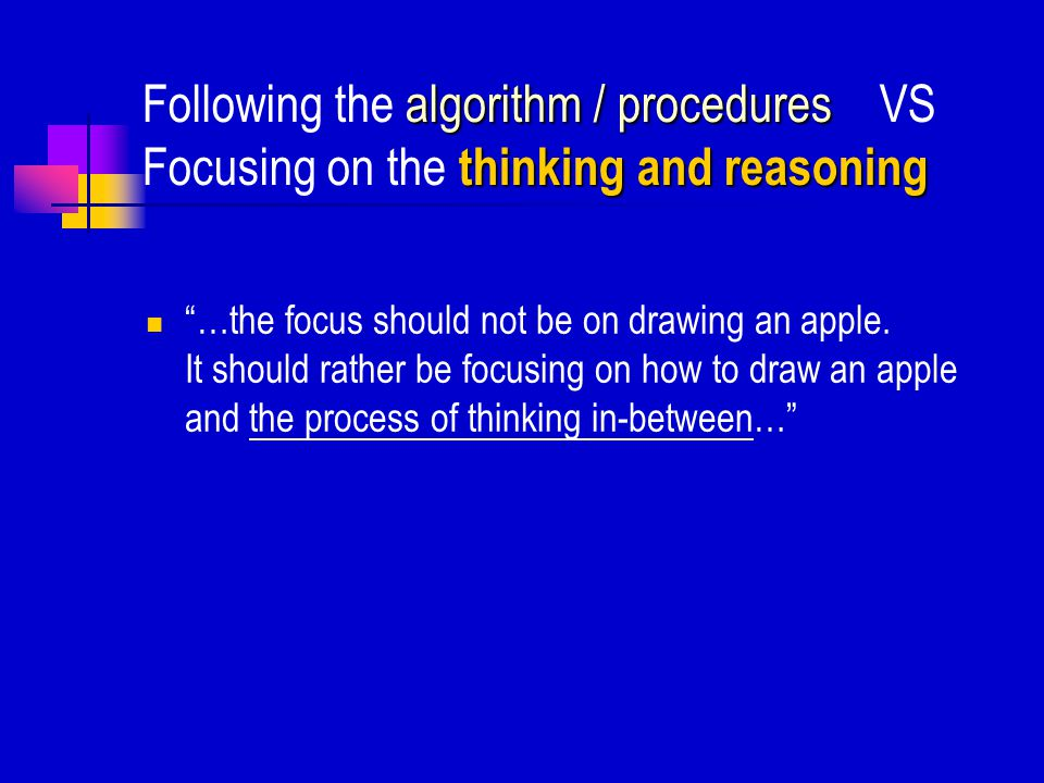 A common obstacle for problem solving abilities – The 'algorithm  solution' A common obstacle for problem solving abilities – The 'algorithm  soluti