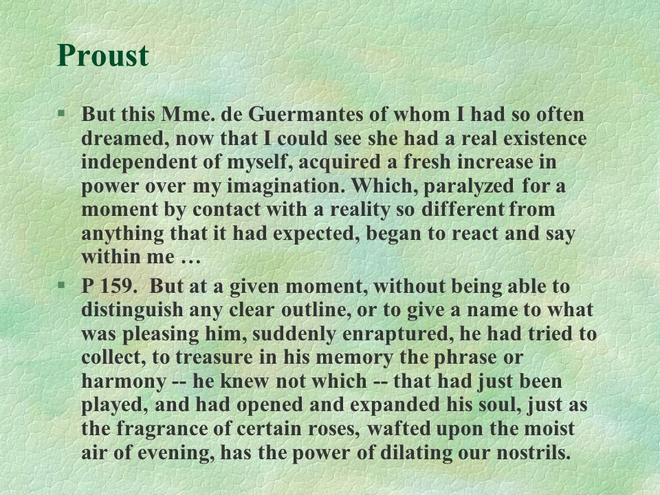 Proust §But this Mme.