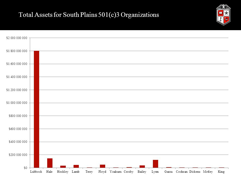 Total Assets for South Plains 501(c)3 Organizations