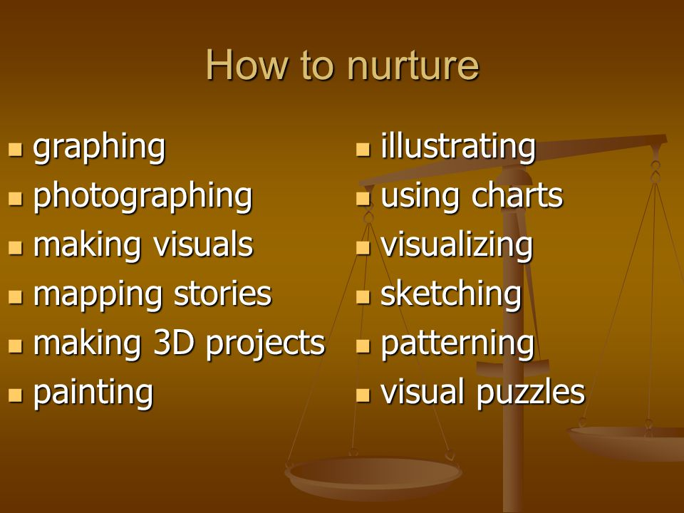 How to nurture graphing graphing photographing photographing making visuals making visuals mapping stories mapping stories making 3D projects making 3