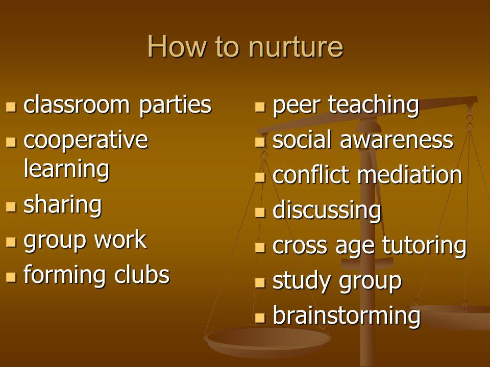 How to nurture classroom parties classroom parties cooperative learning cooperative learning sharing sharing group work group work forming clubs formi