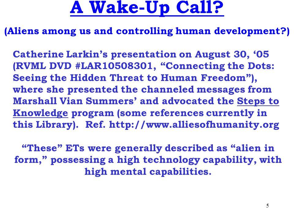 5 A Wake-Up Call.