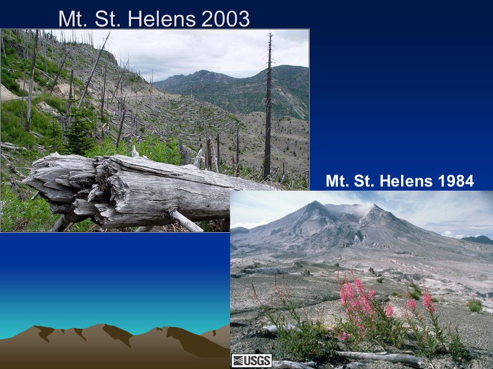 Mt. St. Helens 2003 Mt. St. Helens 1984
