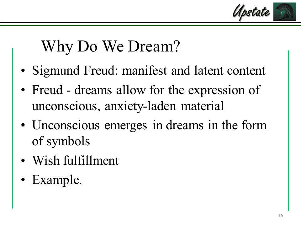 Why Do We Dream.