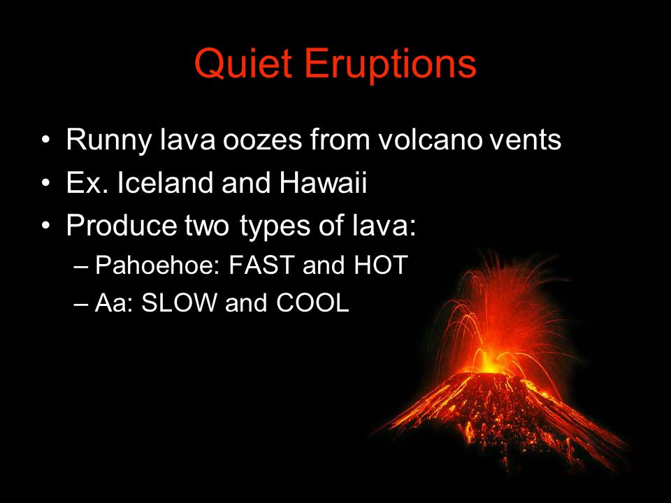 Violent Eruptions Thick and sticky magma plugs vents like a cork.