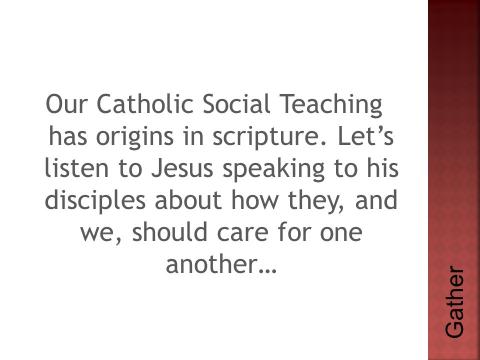  Our commitment to the Catholic social mission must be rooted in and strengthened by our spiritual lives.