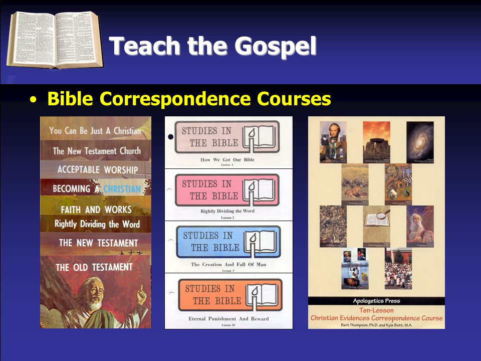 Teach the Gospel Bible Correspondence Courses