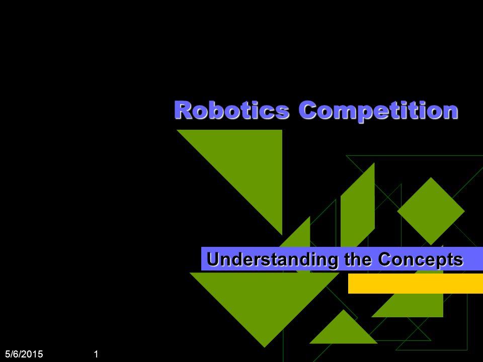 5/6/2015 1 Robotics Competition Understanding the Concepts