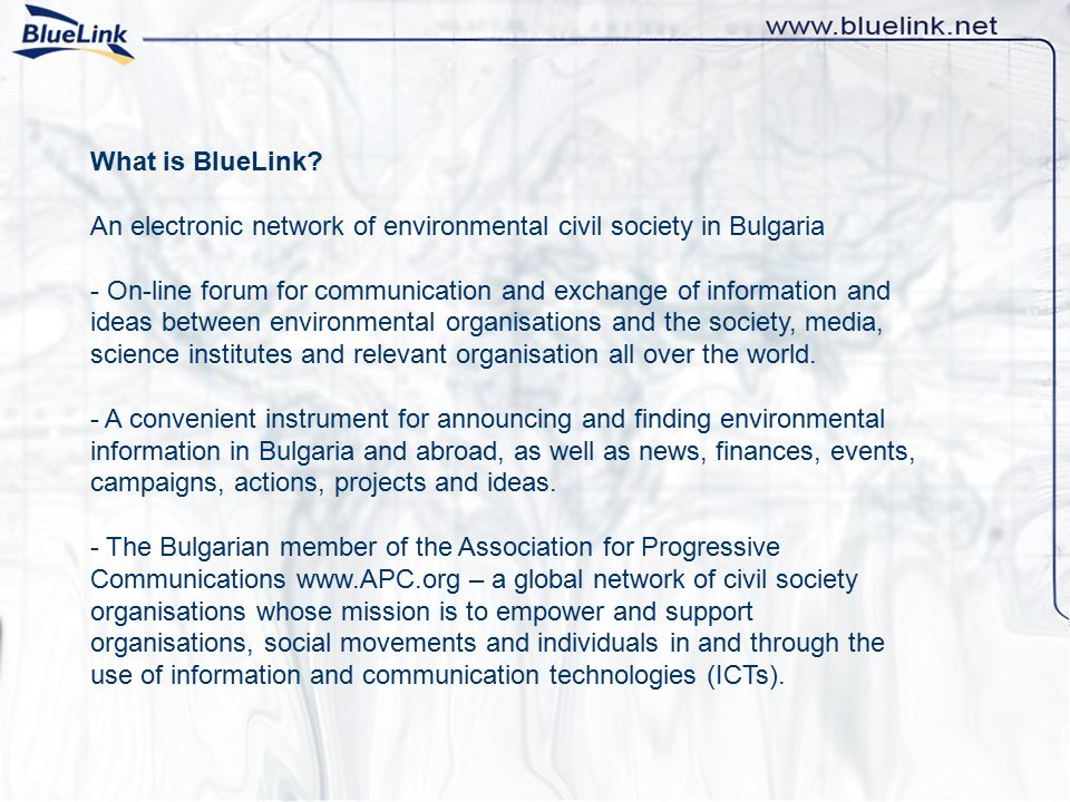 What is BlueLink.