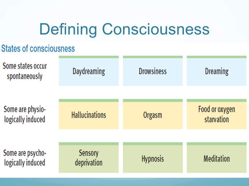 Defining Consciousness