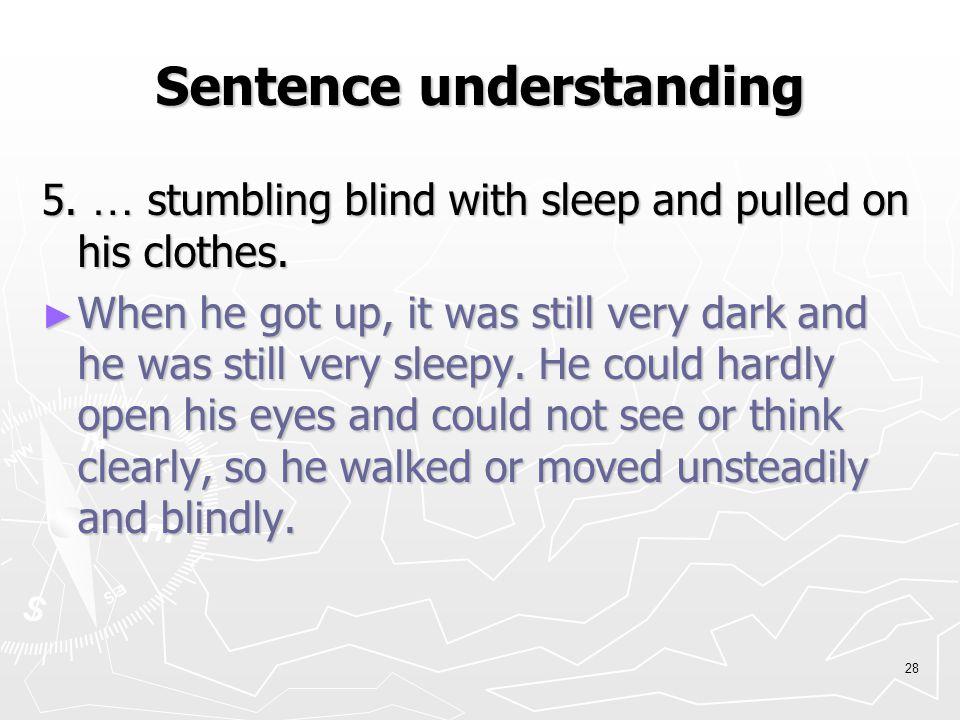 27 Sentence understanding 4.