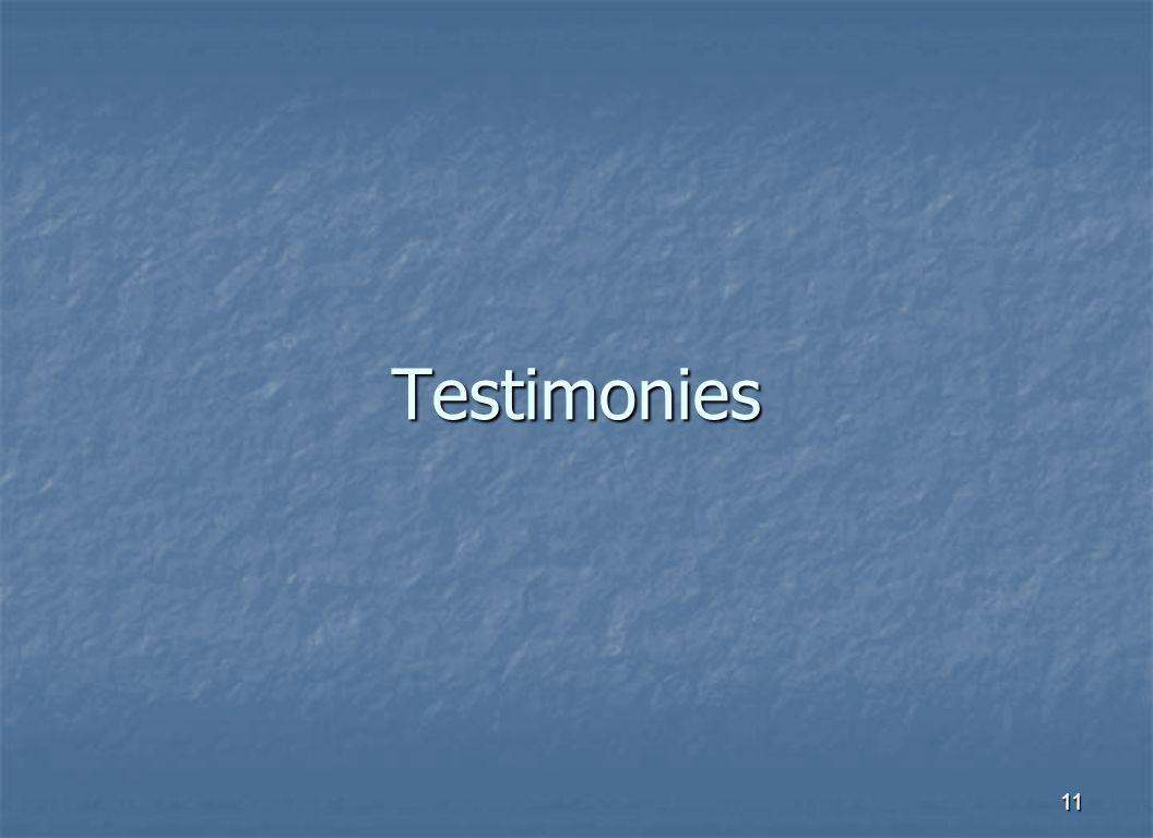 11 Testimonies