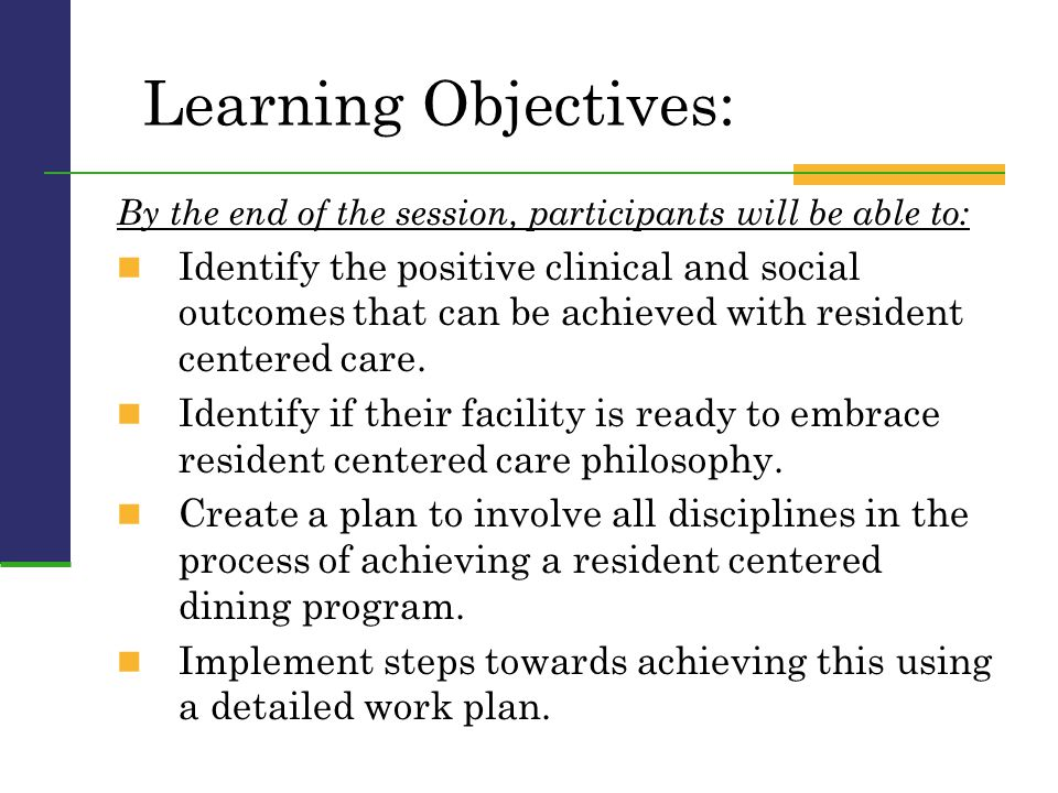 Learning Objectives: By the end of the session, participants will be able to: Identify the positive clinical and social outcomes that can be achieved