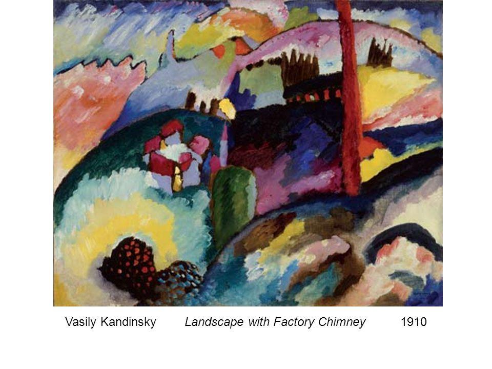 Vasily Kandinsky Landscape with Factory Chimney 1910