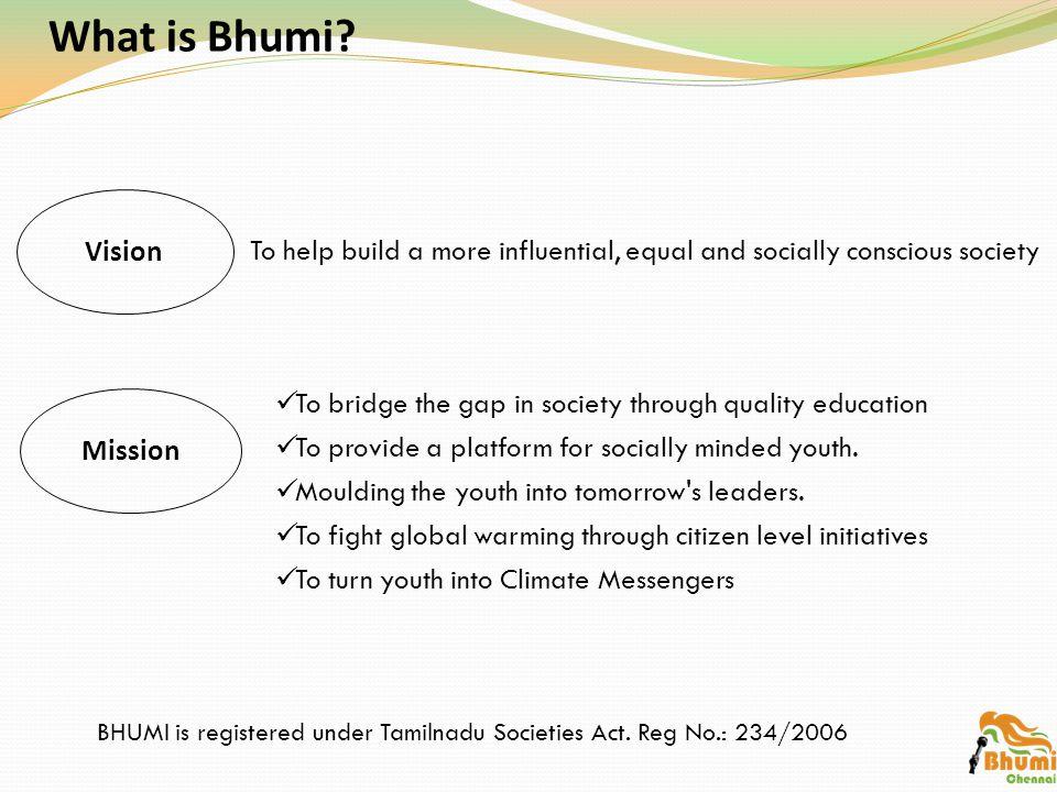 Why Bhumi.