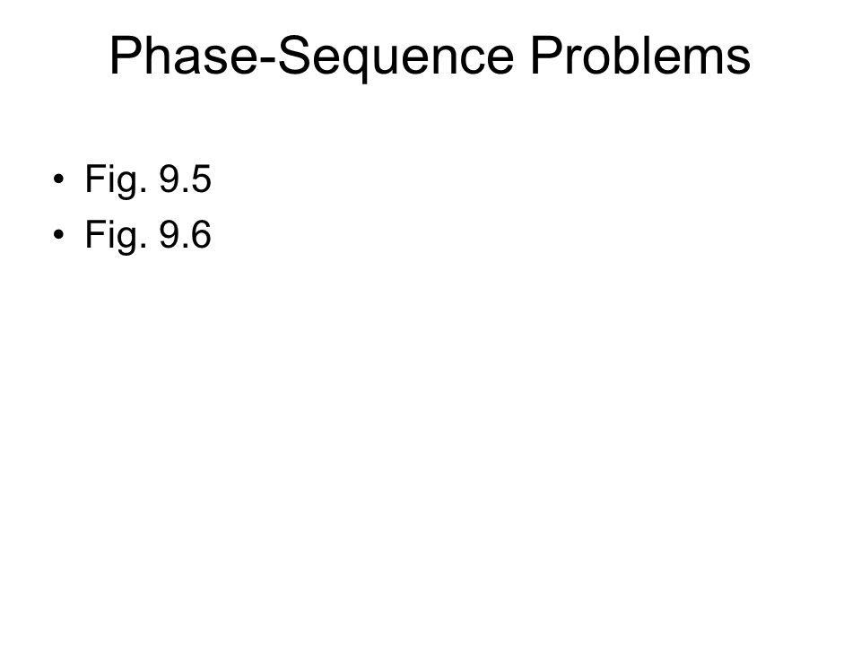 Phase-Sequence Problems Fig. 9.5 Fig. 9.6