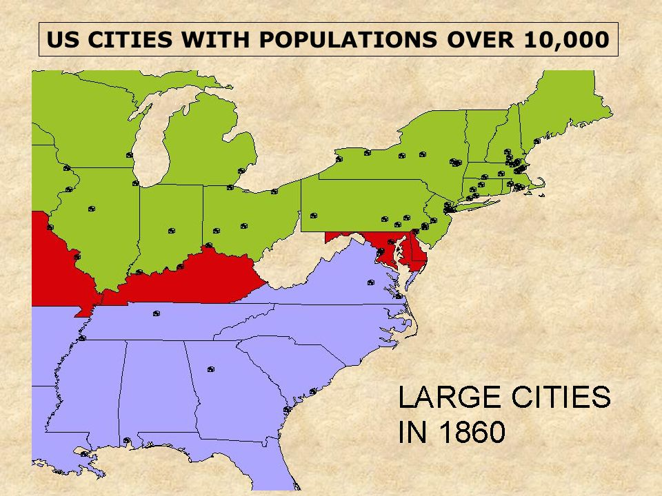 US CITIES WITH POPULATIONS OVER 10,000