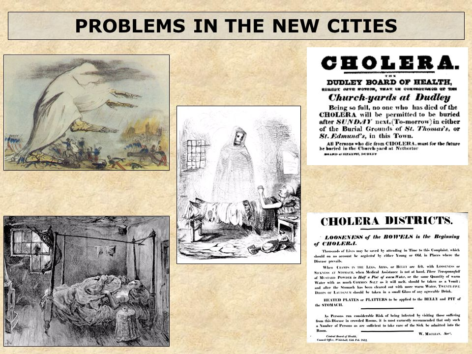 PROBLEMS IN THE NEW CITIES