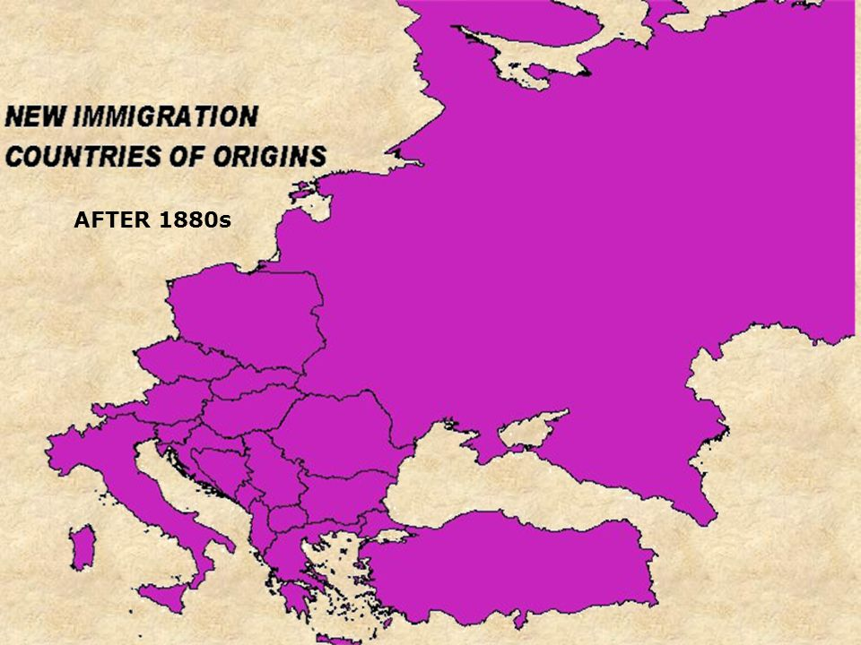CHART OF IMMIGRATION 1820 TO 1980 1900
