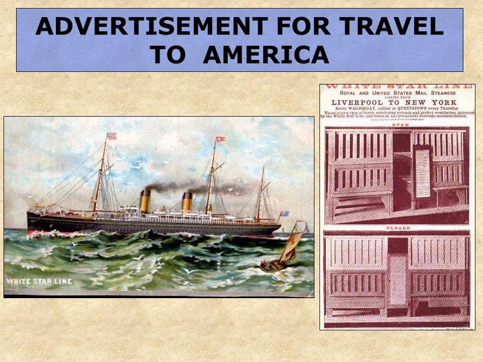 ADVERTISEMENT FOR TRAVEL TO AMERICA