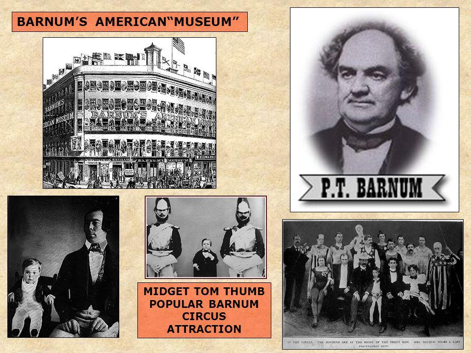 BARNUM'S AMERICAN MUSEUM MIDGET TOM THUMB POPULAR BARNUM CIRCUS ATTRACTION