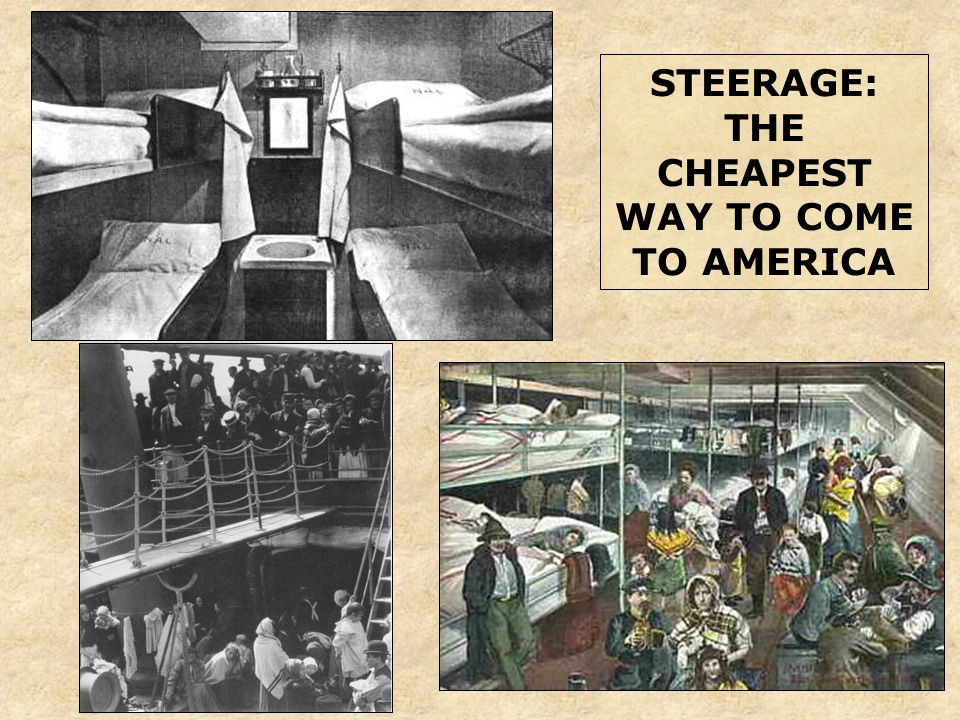 STEERAGE: THE CHEAPEST WAY TO COME TO AMERICA