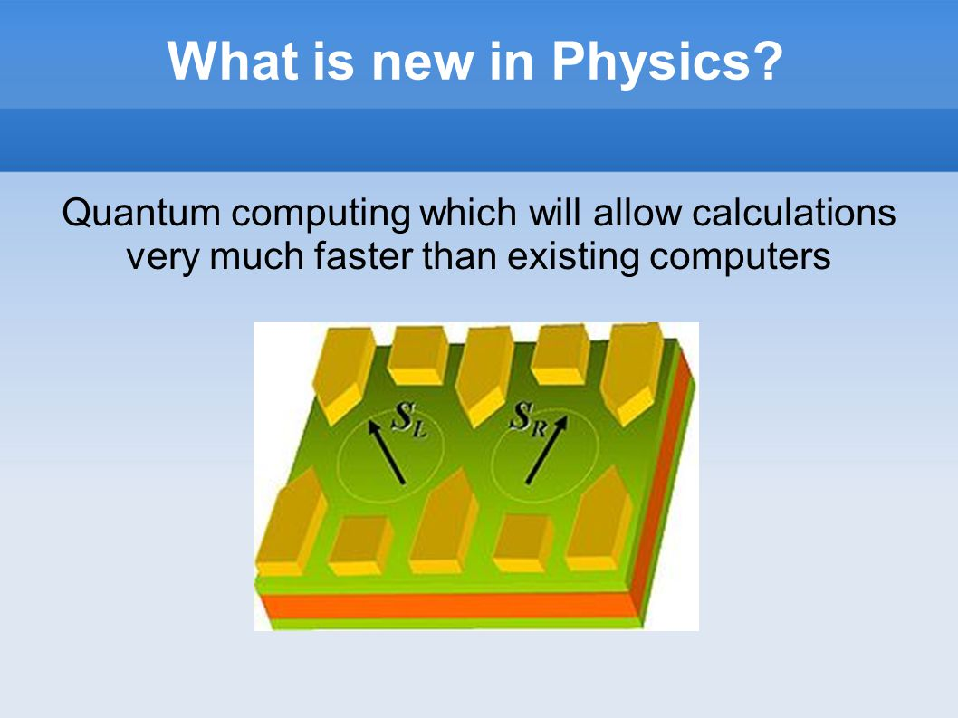 What is new in Physics.