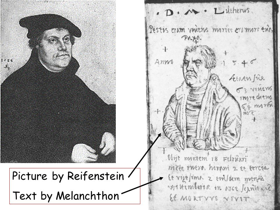 Picture by Reifenstein Text by Melanchthon