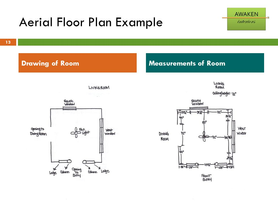 Aerial Floor Plan Example 13 Drawing of RoomMeasurements of Room