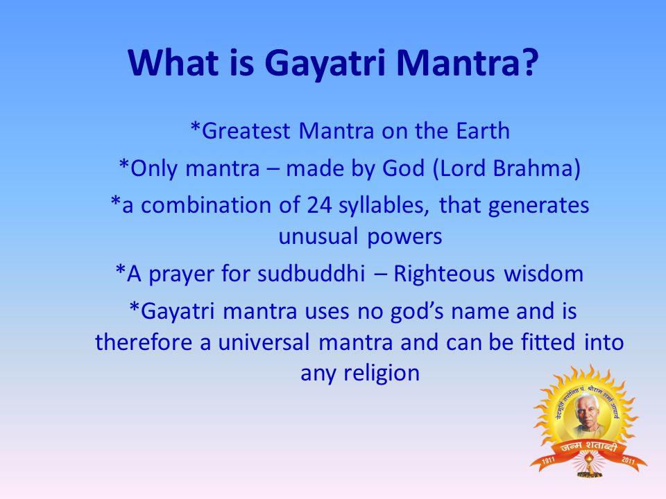 What is Gayatri Mantra.
