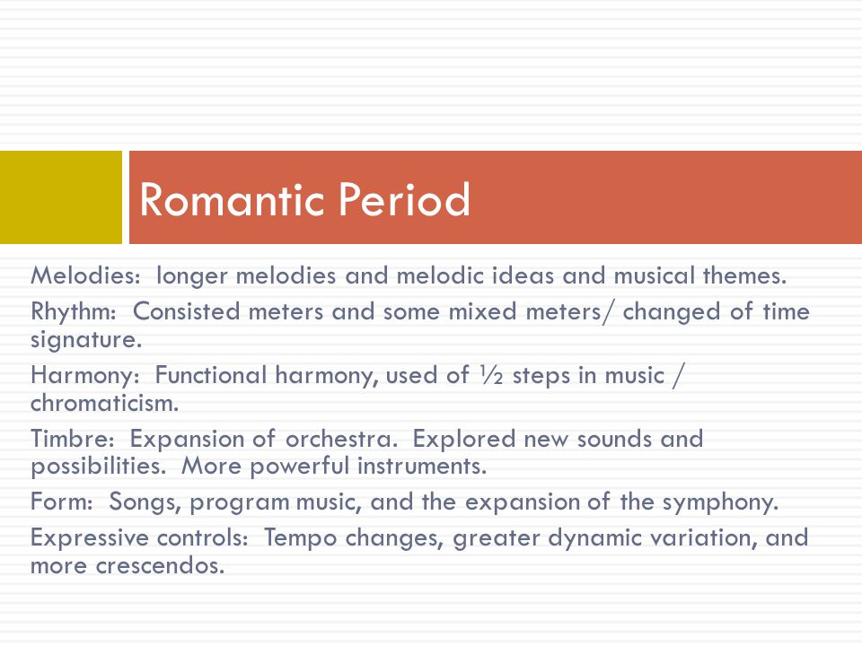 Melody: use of the pentatonic scale and melodic fragments.