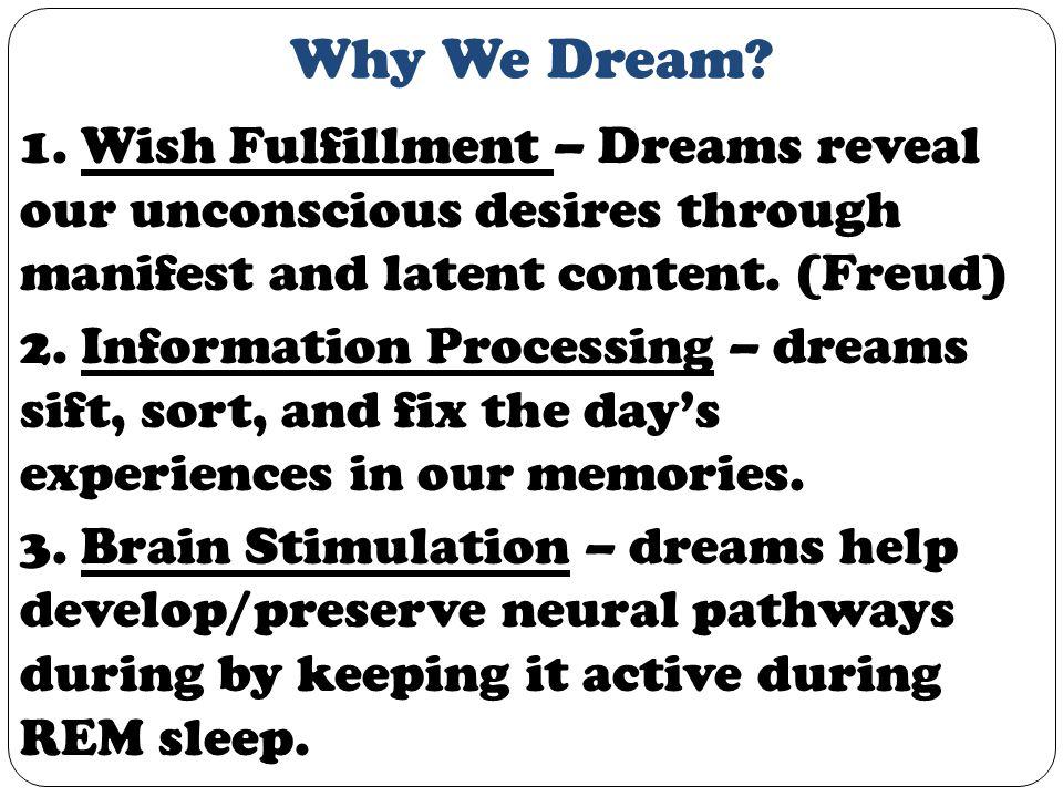 Why We Dream. 1.